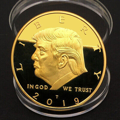 AU4.53 • Buy 2019 NEW President Donald Trump Gold Plated EAGLE Commemorative Coin Republican