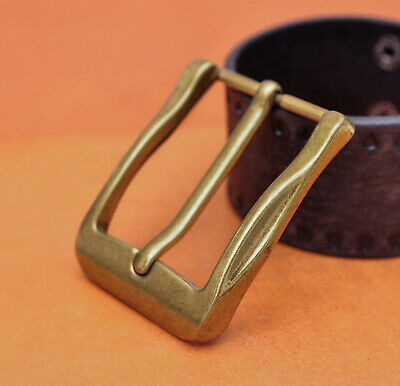 40mm Cool Solid Antique Brass Casual Men Single Pin Prong Leather Belt Buckle • 4.27£