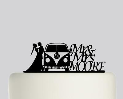 £19.99 • Buy  Campervan Bride Groom Personalised Acrylic Wedding Cake Topper Decoration.734