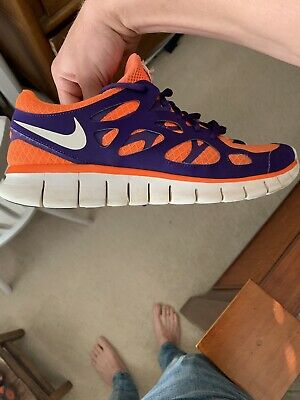 sports shoes a2ecd ee598 Clemson Nike Free Run 2 Sz 10.5 • 29.00