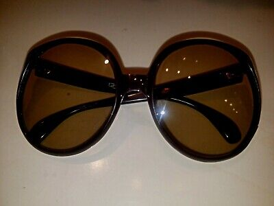 6831f38d253 Vintage 70 s Oversized Brown Sunglasses From France ! • 40.00
