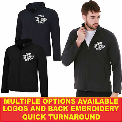 Personalised Embroidered UX SOFT SHELL JACKET UX6 Highest Quality Workwear • 33.99£