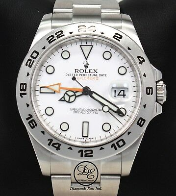 $ CDN12178.56 • Buy Rolex Explorer II 216570 Steel White Dial GMT Date Oyster 42mm Watch PAPERS MINT