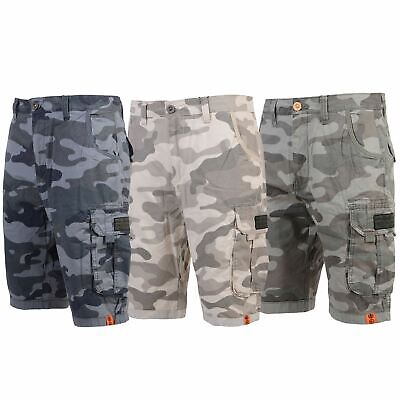 £22.99 • Buy Mens Crosshatch Shorts Chino Twill Camouflage Military Cargo Combat Knee Length