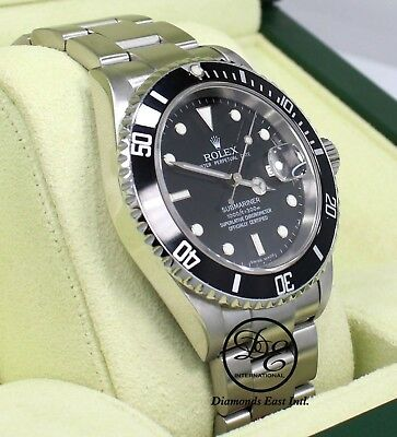 $ CDN12575.73 • Buy Rolex Submariner 16610 Date Oyster Steel Mens Watch BOX/PAPERS *MINT CONDITION*