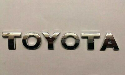 £7.99 • Buy  New Chrome 3D Self-adhesive Car Letters Badge Emblem Sticker Spelling TOYOTA