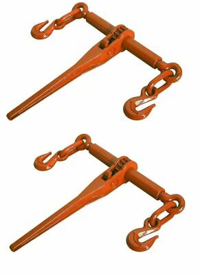 $58.51 • Buy 2 PACK Ratcheting Load Binder 5/16 -3/8  Chain Ratchet Boomer Tie Down Rigging