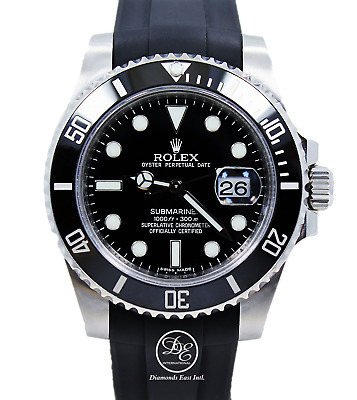 $ CDN13919.23 • Buy Rolex Submariner 116610LN Date Ceramic Bezel RUBBER B Steel Watch MINT CONDITION