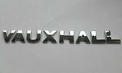 £9.99 • Buy New Chrome 3D Self-adhesive Car Letters Badge Emblem Sticker Spelling VAUXHALL