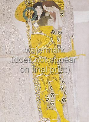 $ CDN32.65 • Buy GUSTAV KLIMT Poster Or Canvas Print  Beethoven Frieze - Longing For Happiness