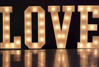 4ft Illuminated LOVE Letters Wedding Light Up Letters LED • 99£