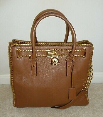 e85b44f974eb Michael Kors Whipped Hamilton Large Leather North South Luggage Tote •  115.00$