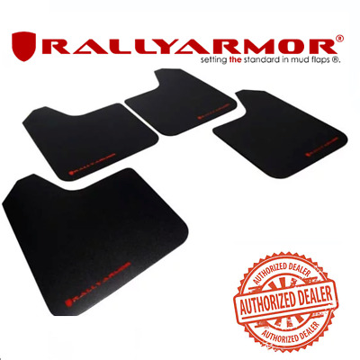 $28.99 • Buy Basic Universal Mud Flaps W/red Logo For RALLY ARMOR  MF12-BAS-RD