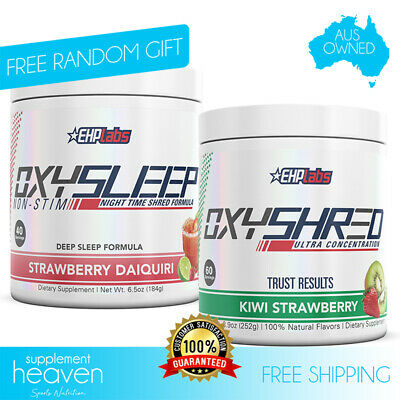 AU144.95 • Buy EHPLabs Oxysleep + Oxyshred Pack EHP Labs All Natural Fat Burner Sleep Non-Stim