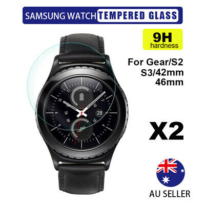 AU3.43 • Buy 2X Tempered Glass Screen Protector Samsung Galaxy Gear Watch S2/S3/S4/ 42/46mm