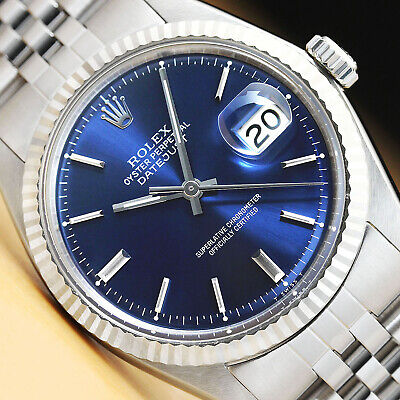 $ CDN4913.20 • Buy Rolex Mens Datejust Blue Dial 18k White Gold & Stainless Steel Watch