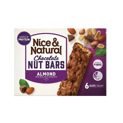 View Details 6-Pack Nice & Natural Chocolate Almond With Real Milk Chocolate Nut Bar 180g • 3.00AU