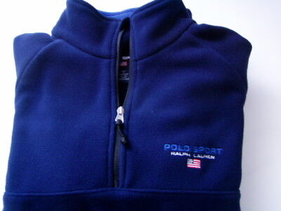 Polo Sport Ralph Lauren Polartec Thermal Pro Flag Fleece 1/2 Zip Jacket  M - L • 39$