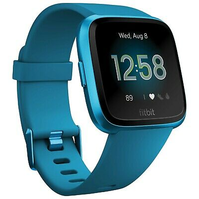 $ CDN300 • Buy Fitbit Versa Lite Smartwatch With Heart Rate Monitor - Marina Blue