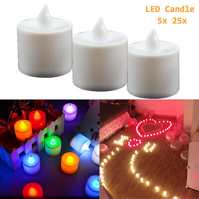 5/25x LED Tea Light Electronic Flicker Flameless Candle Multicolor Home Decor RC • 4.99£