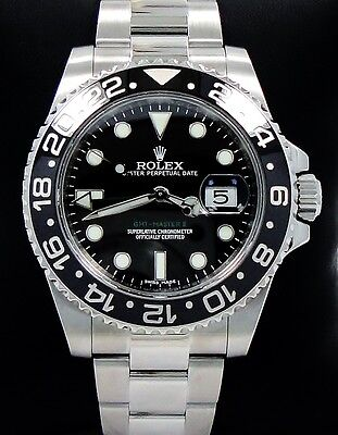 $ CDN15245.92 • Buy Rolex GMT-MASTER II 116710 Steel Black Ceramic Bezel Watch *MINT CONDITION*