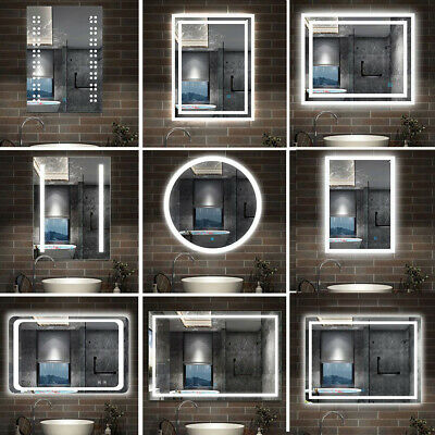 Illuminated  Bathroom LED Mirror With Touch Control Sensor,Demister And Lights • 64.99£