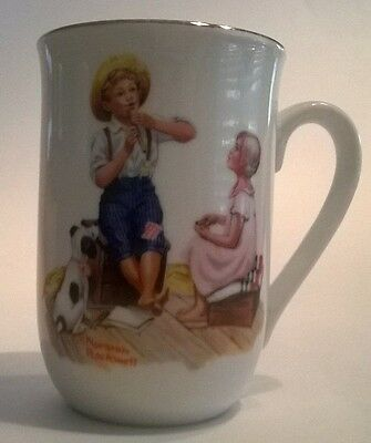 $ CDN12.70 • Buy Norman Rockwell Museum Mug Cup Music Master Seal Authenticity Spotted Dog Flute