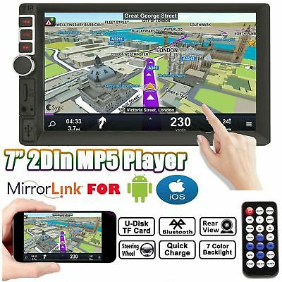 AU81.99 • Buy Mirrorlink For Android GPS Double 2Din 7  Radio Stereo Bluetooth Touch Universal