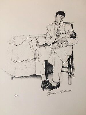 $ CDN1198.73 • Buy 1976 NORMAN ROCKWELL AMERICAN FAMILY Signed Print A/P-  Two O'clock Feeding