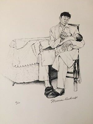 $ CDN1171.76 • Buy 1976 NORMAN ROCKWELL AMERICAN FAMILY Signed Print A/P-  Two O'clock Feeding