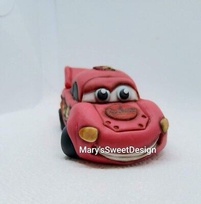 Lightning McQueen Cake Topper Handmade Edible Birthday Party Theme Unofficial  • 29.99£