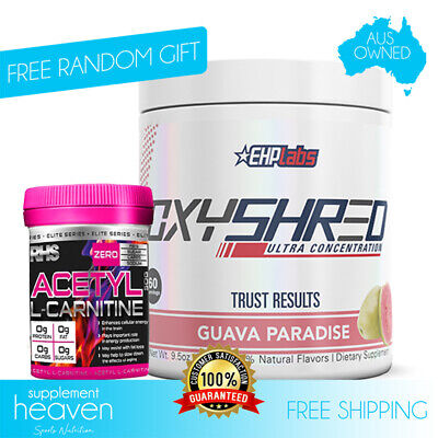 AU64.95 • Buy EHPLabs OxyShred 60Serve Thermogenic Weight Fat Loss/Free Acetyl L-Carnitine