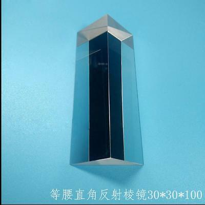 $40 • Buy 1PC K9 Optical Glass Triangular Right Angle Slope Reflecting Prism 30x30x100mm S