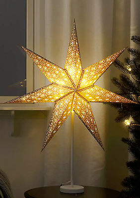 Standing Grey Star With Cut Out Accents 2016 Xmas Light Lamp 70cm • 34.99£