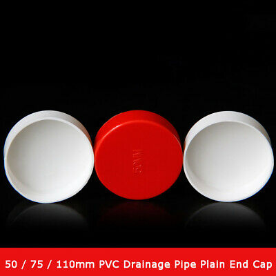 £3.95 • Buy 1pcs 50 / 75 / 110mm PVC Drainage Pipe Plain End Cap Pipe Fittings Plugging Caps