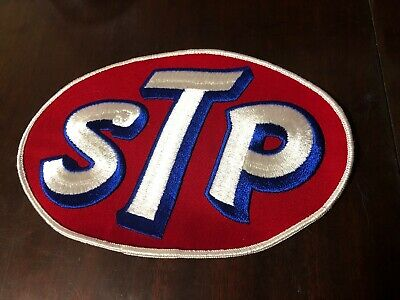 """XL STP Racing Embroidered Motor Oil Lubricants Hot Rod Drag Race Jacket 8"""" Patch • 21.60$"""