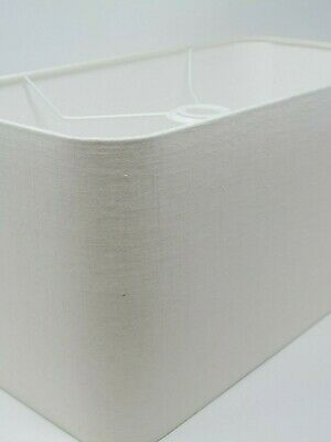 £46.50 • Buy Rounded Rectangle Large Linen Fabric Lampshade Cream Off White Choice Of Colours