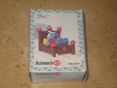 £14.66 • Buy Schleich Peyo Creations 40240  Smurf  In Bed Sleeping Made In 2007!!  Νew!!!