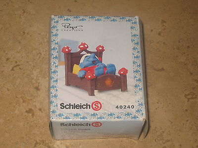 Schleich Peyo Creations 40240  Smurf  In Bed Sleeping Made In 2007!!  Νew!!! • 14.50£