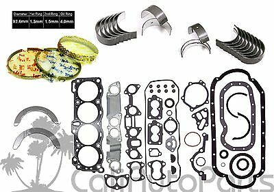 AU144.82 • Buy Honda Isuzu 2.6 4ZE1 SOHC Full Set Rings Main Rod Engine Bearings *RE-RING Kit*
