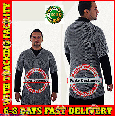 £47.90 • Buy Aluminium Chainmail Shirt Butted Aluminum Chain Mail Haubergeon Medieval Armour