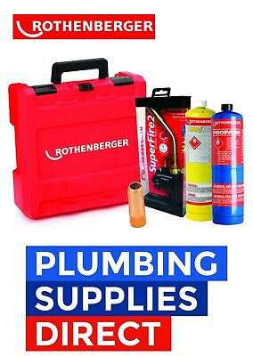 £109.99 • Buy Rothenberger Plumbers HotBox With Tools Superfire2 / Mapp & Propane Gas Cool Tip