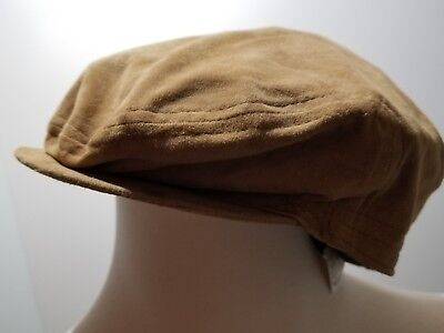 6cd44fa3998a2 BORSALINO Italy NWT New Men s Pelle Leather Suede Cap Hat 57 • 59.99
