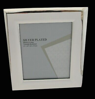 AU39.95 • Buy Silver Plated 8 X 10 In Photo Frame Quality 20 X 25 Cm Picture Frame