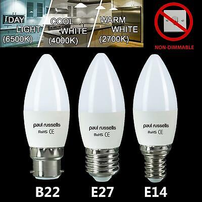 £6.99 • Buy Pack Of 6/12 LED Candle Bulb Candle E14 Small Edison Screw Cap Warm Daylight