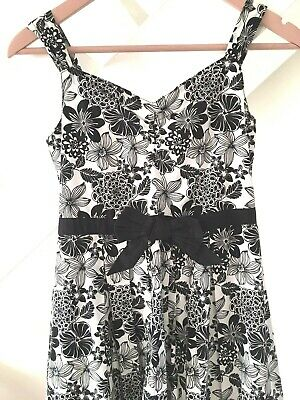 £9.99 • Buy Pretty Black White CQ Occasion Dress Age 12/13 Black Tulle Hem Teen Prom Party