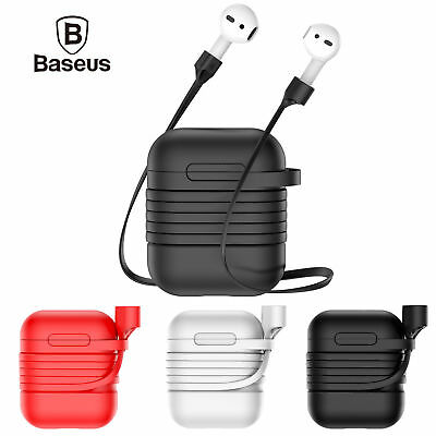 $ CDN11.03 • Buy Baseus Airpods Strap Holder+Silicone Cover Case For Apple Airpods Charging Case