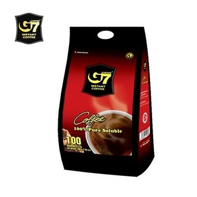 AU20.74 • Buy G7 Pure Black Instant Coffee 2g*100pcs  Vietnamese Coffee Soluble Best Price