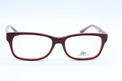 5f9609d13960 Lacoste L 2724 615 Dark Red And Gold Eyeglass Frames 52-16-