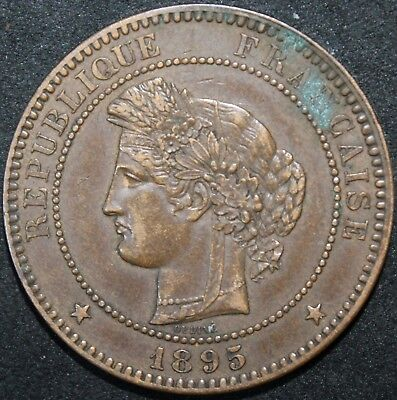 £18.20 • Buy 1895 A | France 10 Centimes | Bronze | Coins | KM Coins